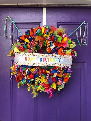 Happy Birthday Balloon Wreath