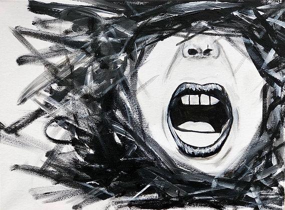 "Wrath -  12"" x 16"" Acrylic Painting"