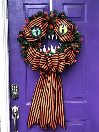 Monster Halloween Wreath