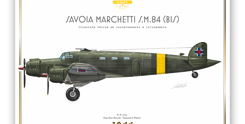 SIAI Marchetti S.M.84 - Slovak Air Force