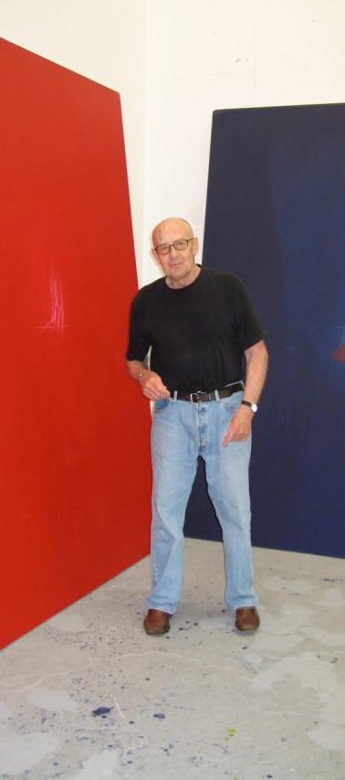 Robyn Denny in his studio, Bermondsey, London