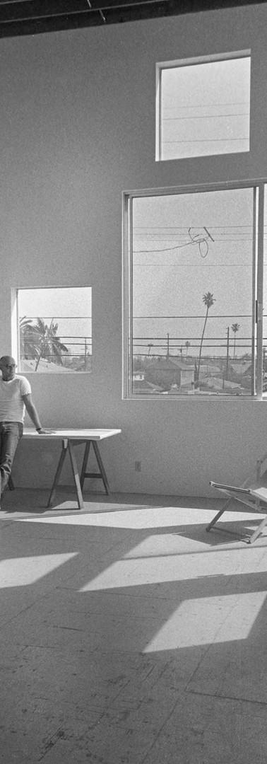 Robyn Denny in his studio in Santa Monica, California