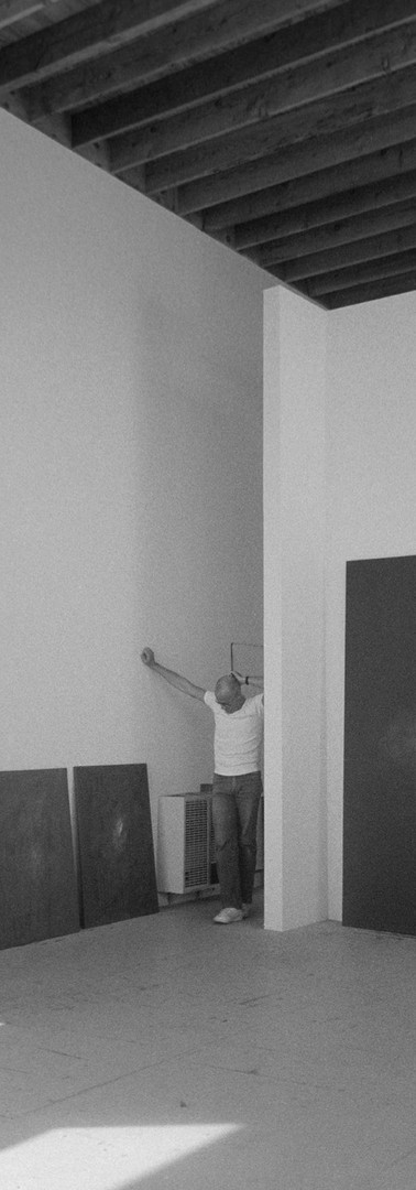 Robyn Denny in his studio. Santa Monica