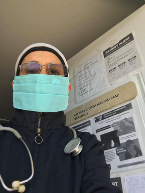 Not all Super Heros wear capes.. Doctor wearing TAS mask at Aegis assisted Living place for Dementia & Alzheimers