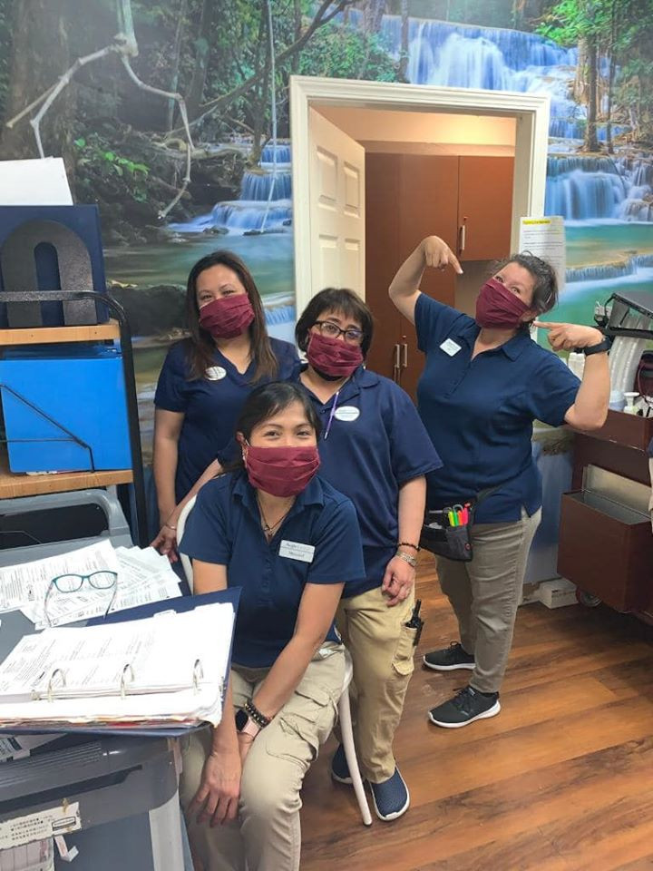 Nurses happy to receive Touch A Soul Face Masks at Aegis assisted Living place for Dementia and Alzheimers