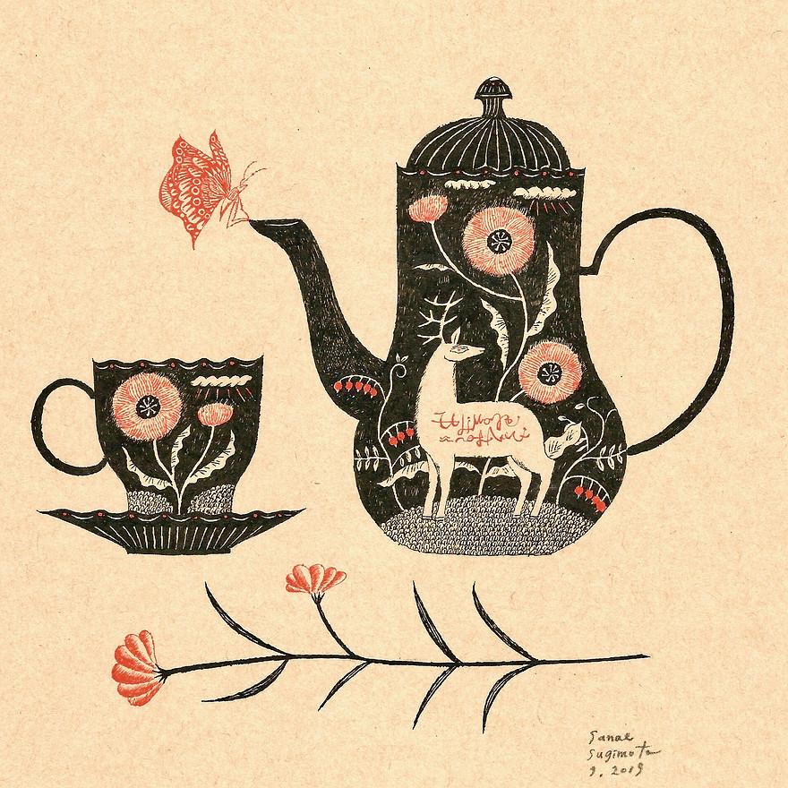 Tea Cup & Pot,Flower.jpg