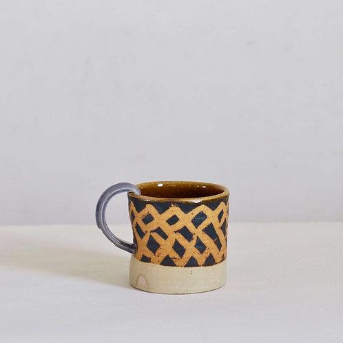 Mug - hooked mauve handle