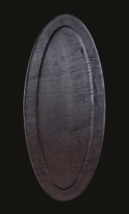 hand turned wooden platter - pomegranate