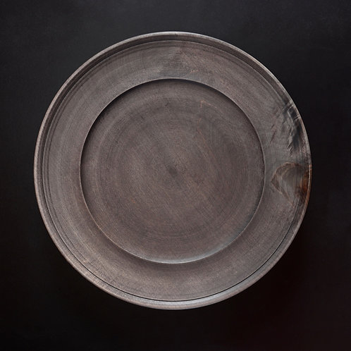 Hand turned wooden plate