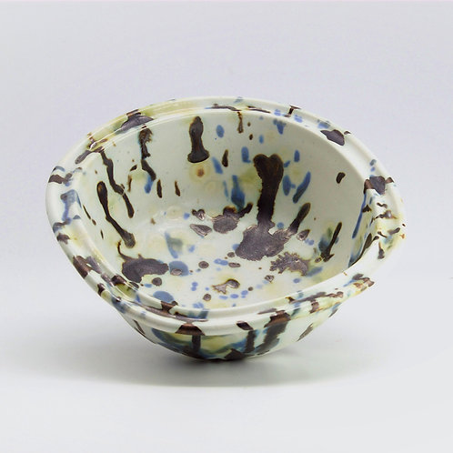 splatter ware square bowl
