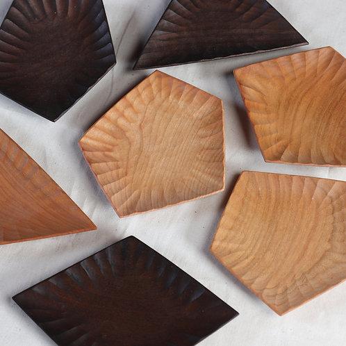 wooden octagonal dish