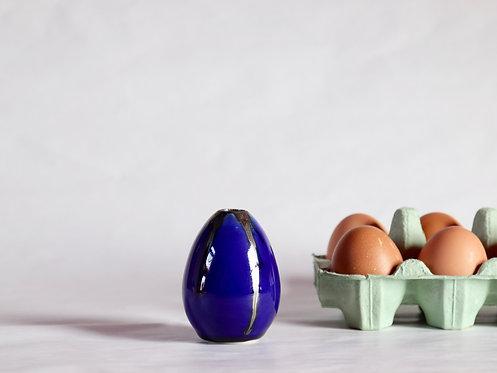 egg vase - Ultramarine x Metallic Bronze