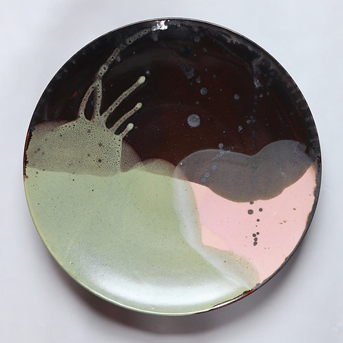 large platter - Chocolate x Pink A