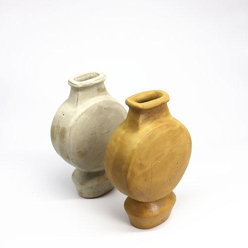sculptural vase - fat drum