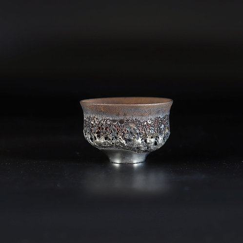boxed sake cup - gold lustre