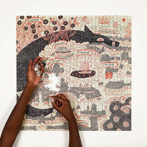 "Sugimoto Sanae ""Evening Kingdom"" Jigsaw Puzzle"