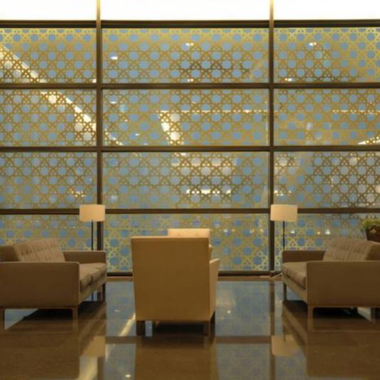 - Art Deco Film Applied to Glass