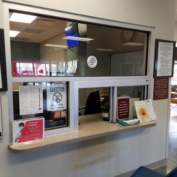 OSF St. Joe's ER ED Window - Reception W