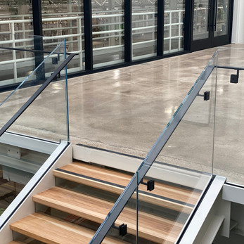 Rivian Glass Railing