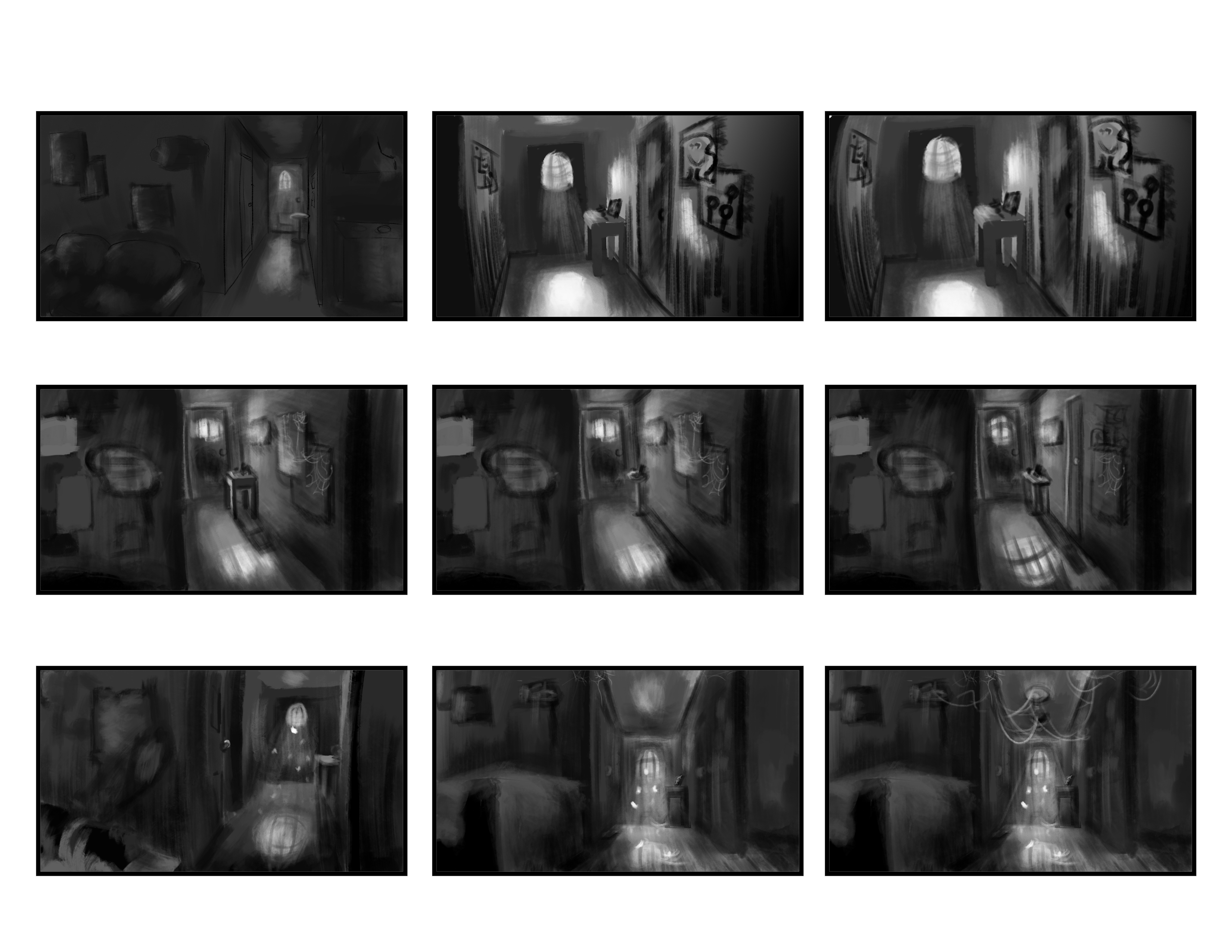Hallway: Shape and Lighting Studies