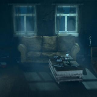 Dusty living room light