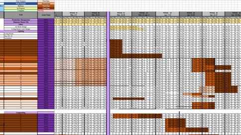 Prsonalized Artist Schedules