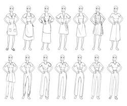 Anne: Costume Sketches