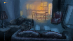 Living Room Concept Painting