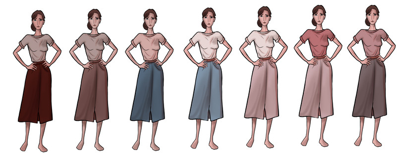 Anne Costume Colors