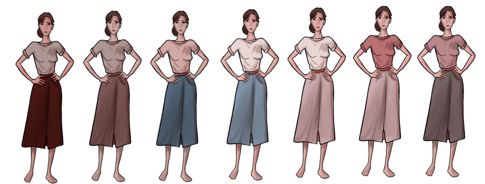 Anne Costume Colors