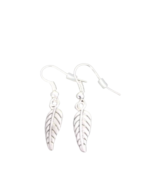 Sterling silver/silver plated autumn leaf earrings
