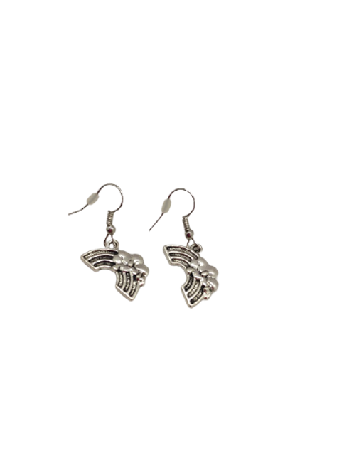 rainbow earrings/silver plated drops/hope/silver rainbow/weather/lgbt