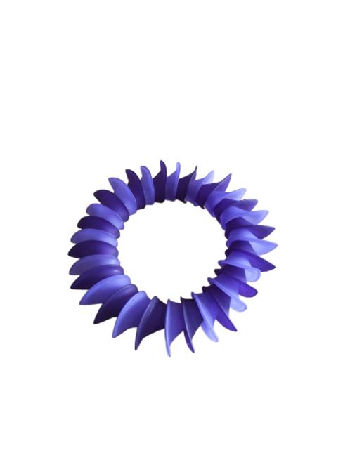 Blue and purple shell beaded bracelet