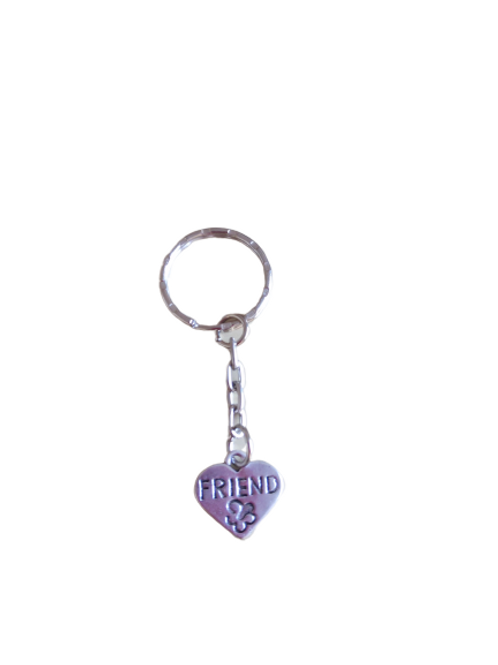 silver plated friend keyrings