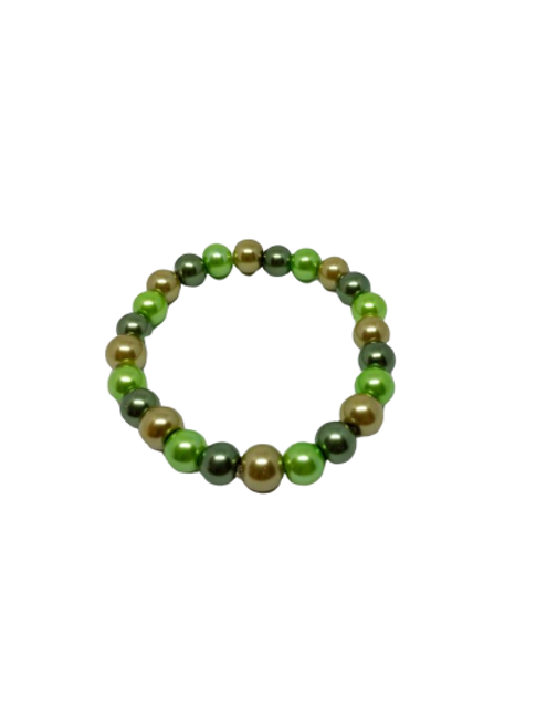 Green stretch beaded bracelet