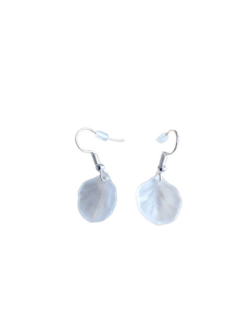 Silver plated/sterling silver smaller shell earrings