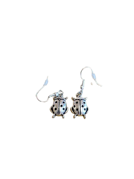 Silver plated/sterling silver ladybird earrings