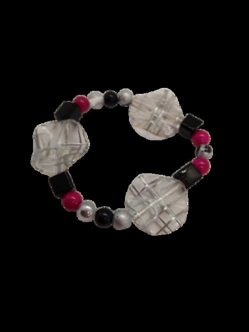 multicolour bracelet, coin bracelet, pink bracelet, expandable wrist candy,