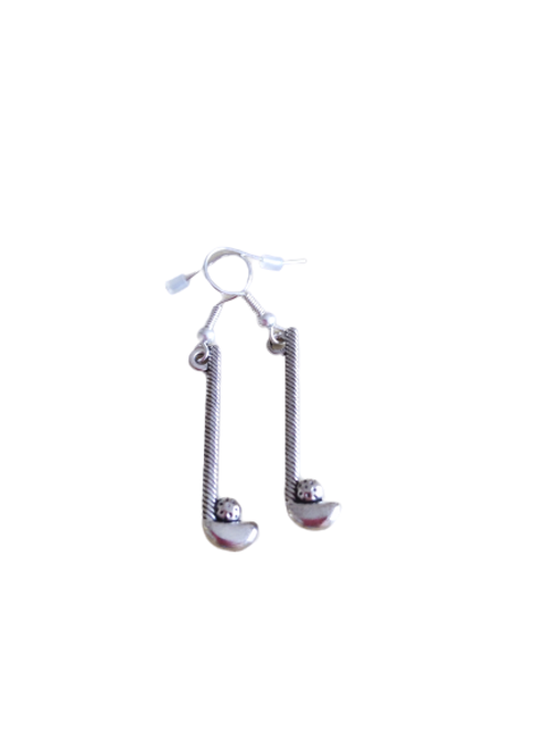 silver plated earrings/golf club earrings/golf earrings/quirky earrings