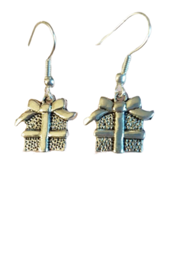 Sterling silver/silver plated Christmas present/gift earrings