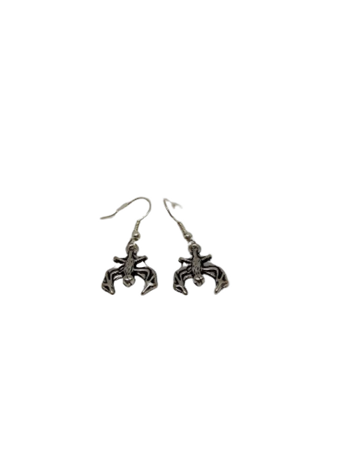 bronze plated or sterling silver/silver plated bat halloween earrings