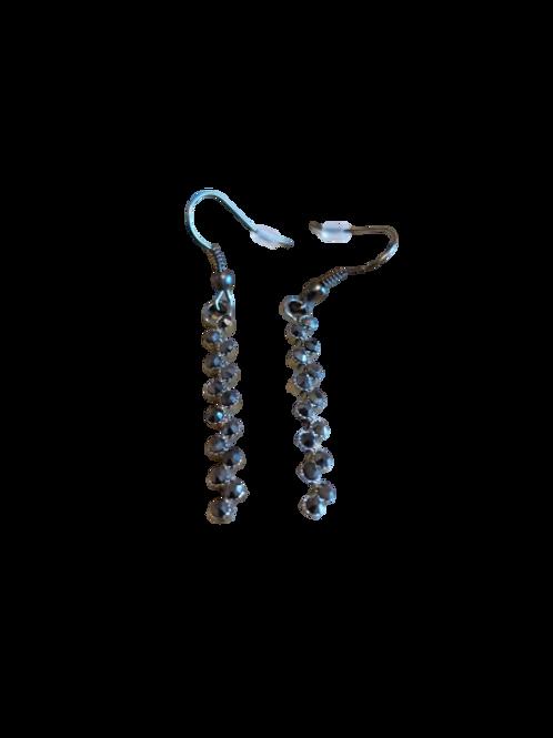 sparkle drop earrings/black circle earrings/sparkly earrings/sparkle earrings/