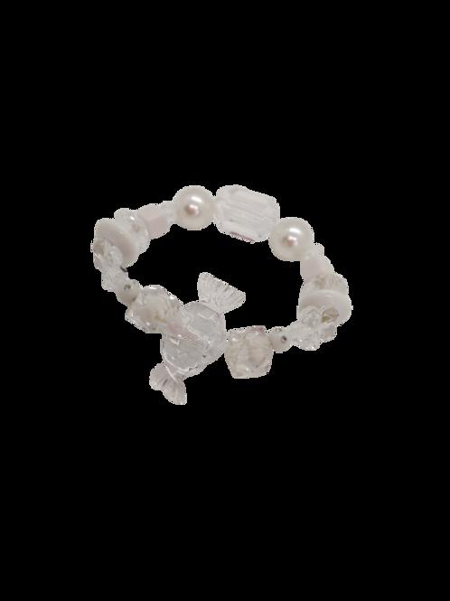 sweet bracelet, clear bracelet, white bracelet, expandable jewellery,