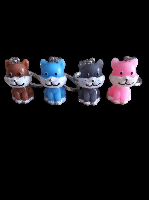 cat keyrings/cats/pink cat/grey cat/3d keyrings/3d cats/cat keyring/