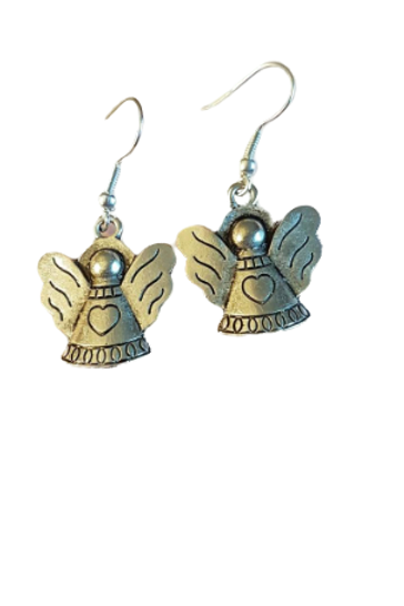 Silver plated/sterling silver angel earrings