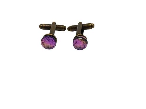 Bronze plated gemstone cufflinks for men.