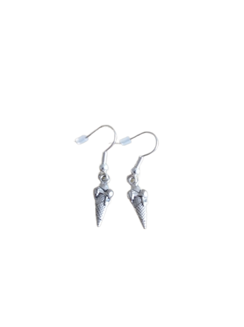 Silver plated/sterling silver ice cream novelty drop earrings