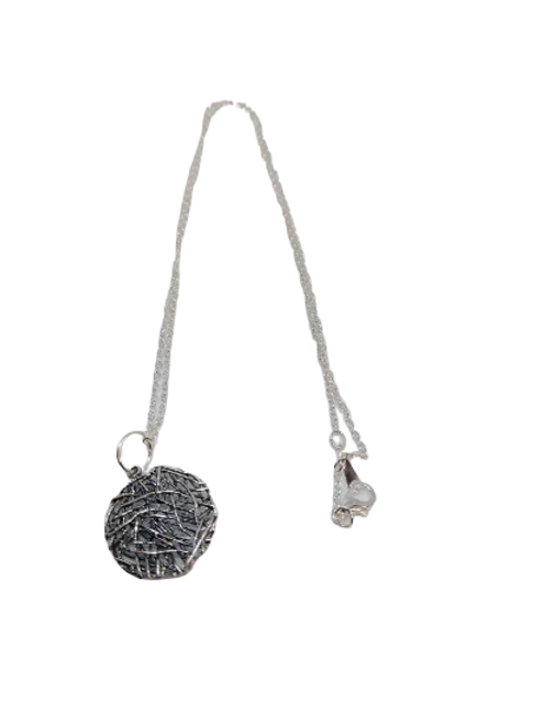 Silver plated wire wrapped necklace/chain