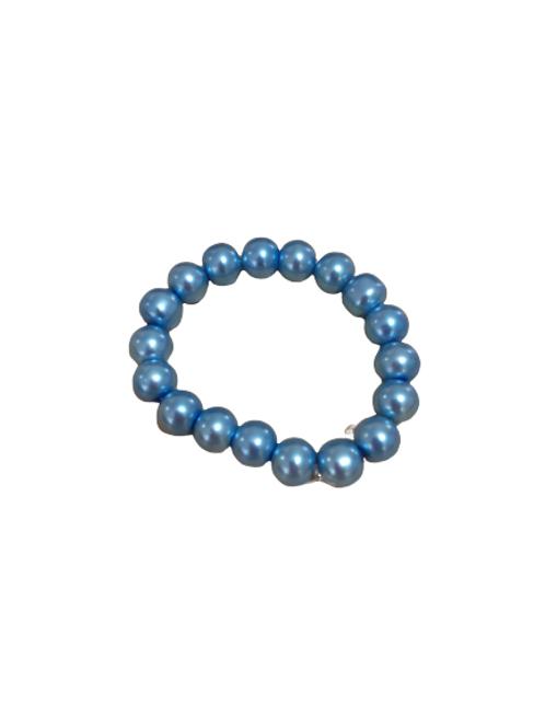 Light blue stretch bead bracelet