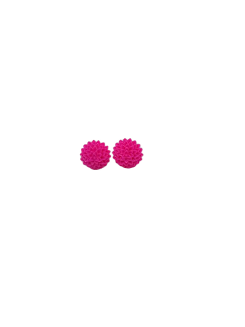 multicolour flower stud earrings